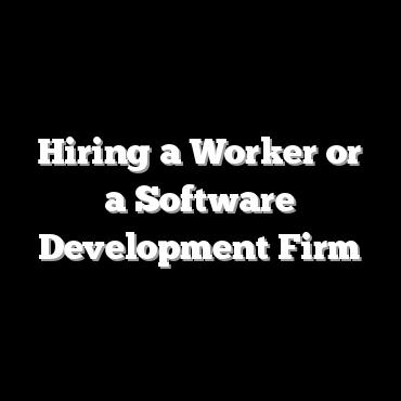 Hiring a Worker or a Software Development Firm